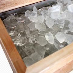 氷だけで冷やすので、電気代0円